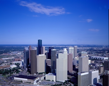 Bufflao Bayou with Downtown Houston Skyline